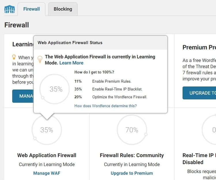 Wordfence 防火牆的「學習模式」(Learning Mode)