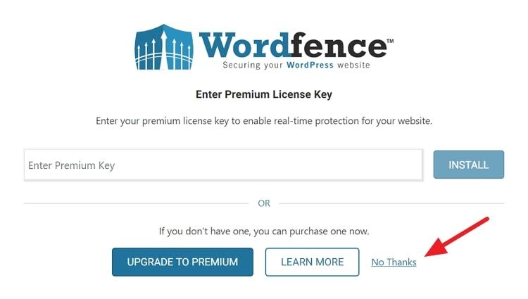 Wordfence Security 設定