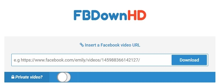 FBDownHD - FB 影片下載網站